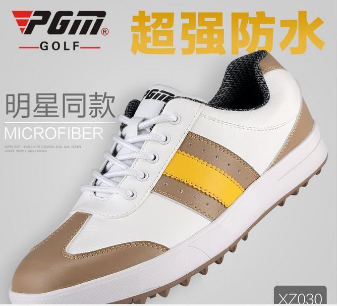 2015 мужчин гольф обувь НОВЫЙ Счетчик подлинной PGM топ qualtiy Гольф Обувь водонепроницаемый Мужские нет шипы ручной работы туфли Для Гольфа