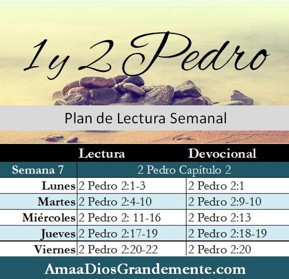Plan de Lectura Semanal semana 7 #1y2Pedro #AmaaDiosGrandemente #LecturaBíblica #MujeresenlaBiblia #EstudioBíblico #vidacristiana