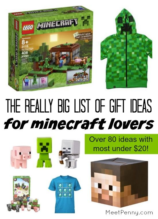 If you are looking for gift ideas for Minecraft lovers, this list of over 80 ideas is going to be tons of help!