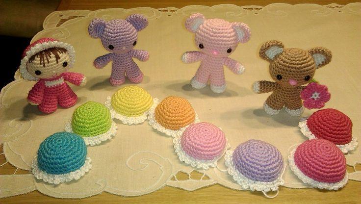 Amigurumi- čepičky pro budoucí miminka