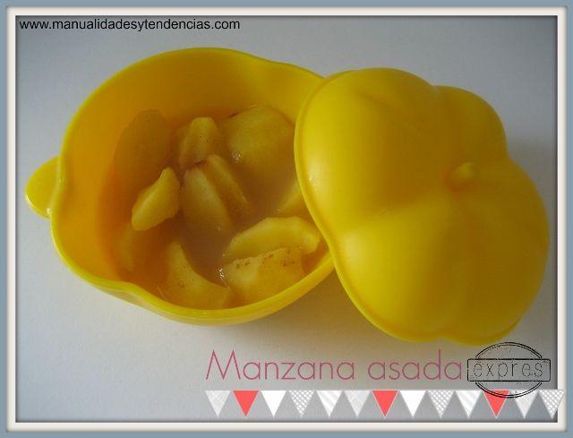 Receta manzana asada microondas / Baked apple recipe microwave / Pomme roti au micro ondes