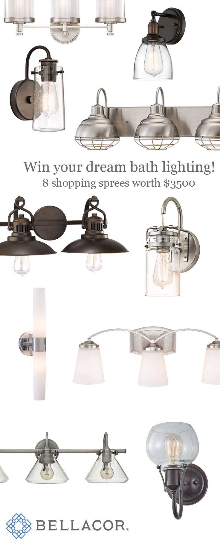 Best 25 rustic bathroom lighting ideas on pinterest mason jar 500 bath lighting shopping sprees pick out your dream bathroom lighting at bellacor arubaitofo Choice Image