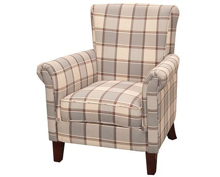 Shire Checked Armchair avaialable from Browsers Furniture Co., Limerick, Ireland https://browsers.ie/products/shire-checked-armchair