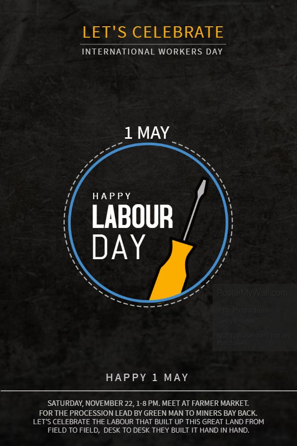 International Worker S Day Poster Flyer Template Workers Day International Workers Day Labour Day