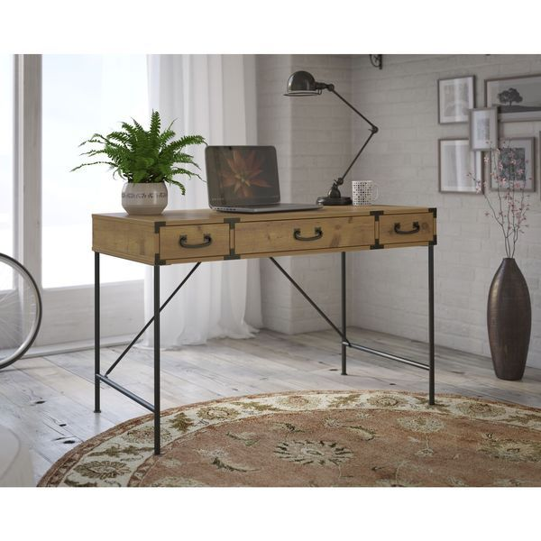 Kathy Ireland Office By Bush Furniture Ironworks 48 Inch Wide Writing Desk    Not Wood