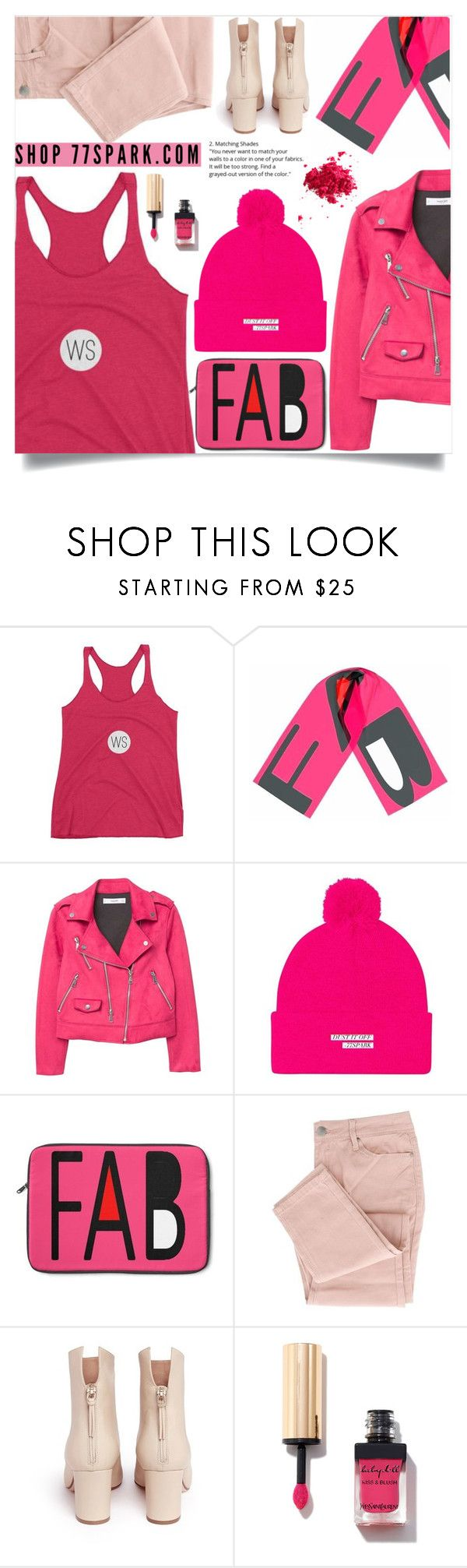 """Think pink! (1)"" by samra-bv ❤ liked on Polyvore featuring MANGO, Francesco Russo and Obsessive Compulsive Cosmetics"