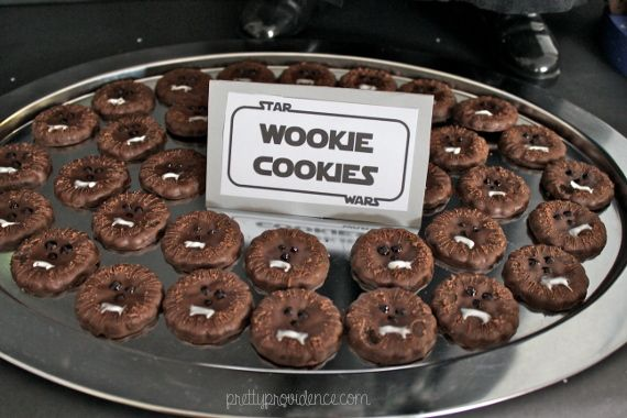 wookie cookies | star wars themed party, food, decor and kids games on pretty providence