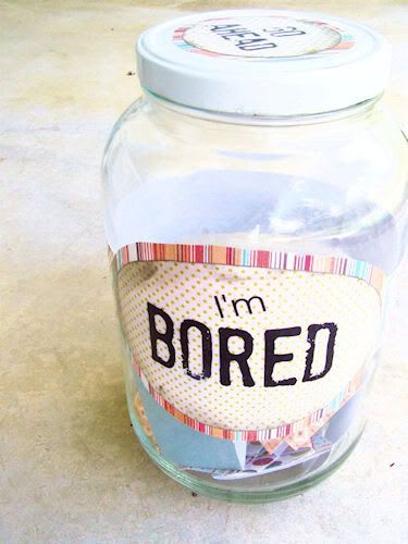 """Every time they say """"I'm bored"""" they reach into the jar, pull out a slip and do that task. Might say something enjoyable like """"go get ice cream"""" but could also say """"clean your room""""    This is a must do!"""