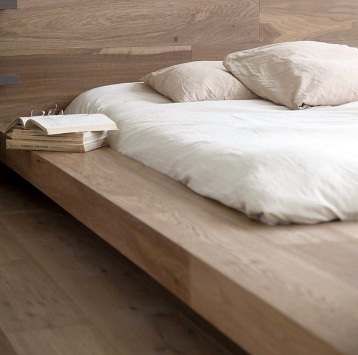 Modern Timber Floating Bed House Pinterest More