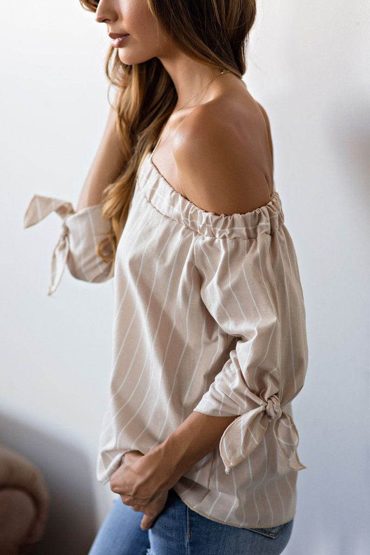 Off the Shoulder Styles, Women's Tops, Women's Boutique, Striped Tops