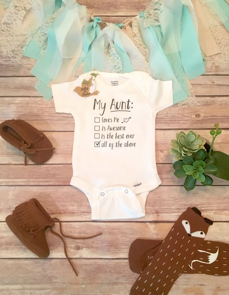 Aunt Onesie®, Unique Baby Gift, Aunt Gift,Aunt Baby Bodysuit,I Have The Best Aunt Ever, Auntie Onesie,Cute Baby Bodysuit,Unisex Baby Clothes