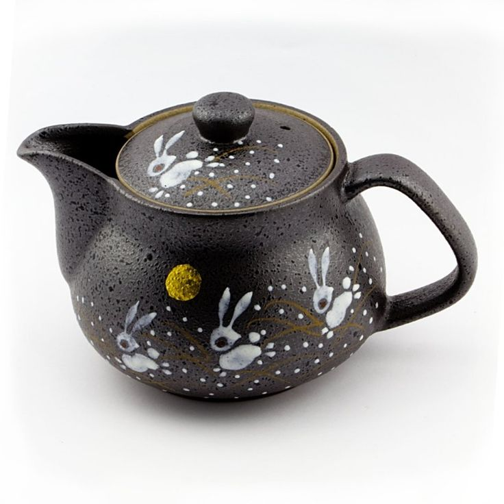 Tetera japonesa fabricada de manera tradicional. en la famosa localidad de Kutani, famosa desde hace siglos por su porcelana.