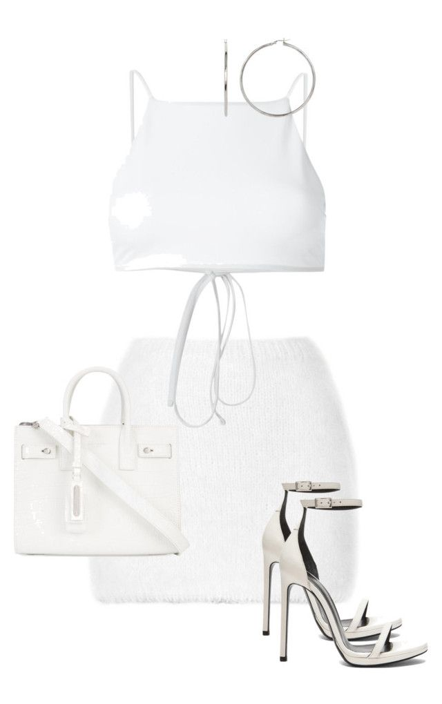 """""""Untitled #1602"""" by elinaxblack ❤ liked on Polyvore featuring Rodarte, Ack and Yves Saint Laurent"""