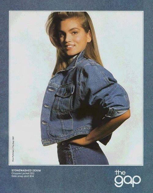 The Gap 1987  Photographer: Rico Puhlmann  Model: Cindy Crawford