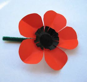 for instructions on how to make this poppy on Youtube, go here     Anzac Day shortly; the poppy sellers will be out on the streets and...