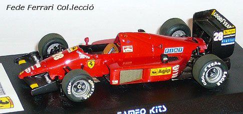 Ferrari F1/86 Turbo de 1986 de Stefan Johansson, montado en Kit de Tameo a escala 1:43