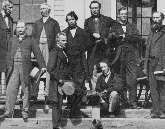 Fathers of Canadian Confederation, P.E.I. // it's always so easy to pick Sir John A MacDonald out of crowd.