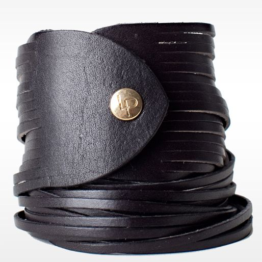 Double Wrap Sliced Leather Bracelet  For the 0.00001% bad girl in me.