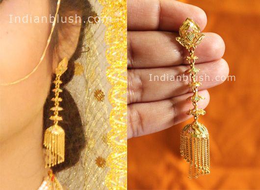 bengali traditional gold jewellery earring