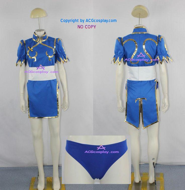 Уличный боец чун-фуд - ли косплей костюм чун ли платье включают undershort ACGcosplay