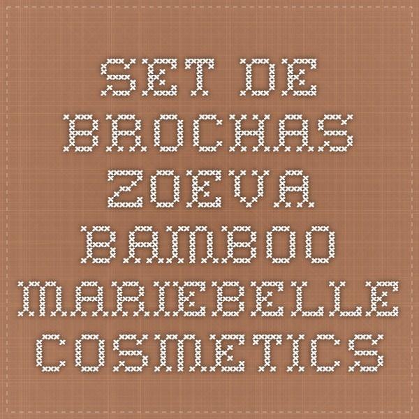 Set de brochas Zoeva Bamboo - Mariebelle Cosmetics