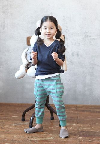 Striped Slouchy Pants. Play approved fashion for girls at Color Me WHIMSY.