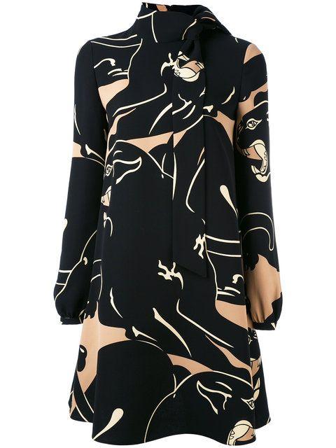 Valentino платье с высоким горлом