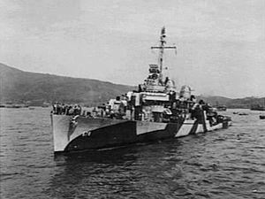 USS Wickes (DD-578) Fletcher-class destroyer named for Captain Lambert Wickes, 1735-1777.