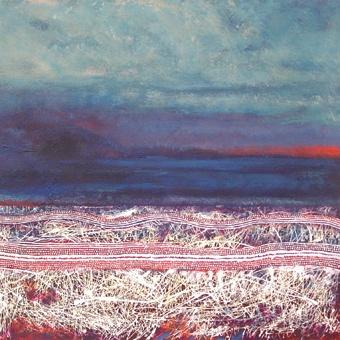 Shane Pickett- Dreaming Painting  (Noongyar artist, Western Australia, now dec'd)
