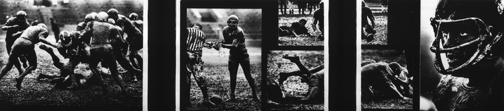 Photographer/Creator  Gary Settle  Collection  1967  Publisher  Chicago Daily News  Caption/Description  Series of photographs taken of a football game being played in the mud and rain.