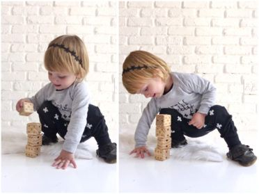 tiny-tribe-kids-clothing-eli-and-i-little-lady-sweater-with-swiss-cross-harem-pants Stacking Blocks. Wood. Natural. Proudly South African.