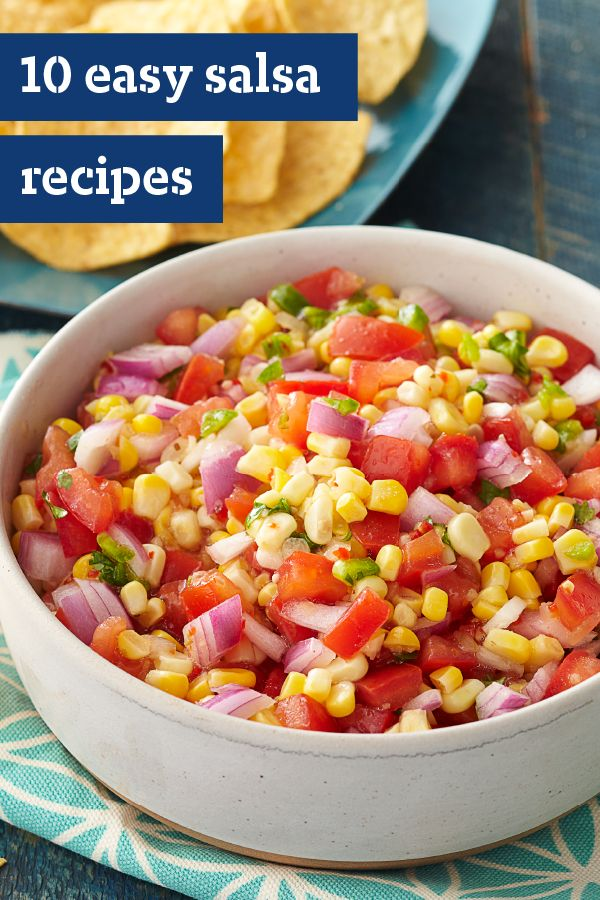 10 Easy Salsa Recipes – Whether you're looking for a tasty accompaniment for your baked chicken or grilled shrimp, or you're planning a party appetizer menu, an easy salsa recipe is a must have. Learn more about using delicious, flavorful ingredients—like peaches, mangos, tomatoes, and corn.