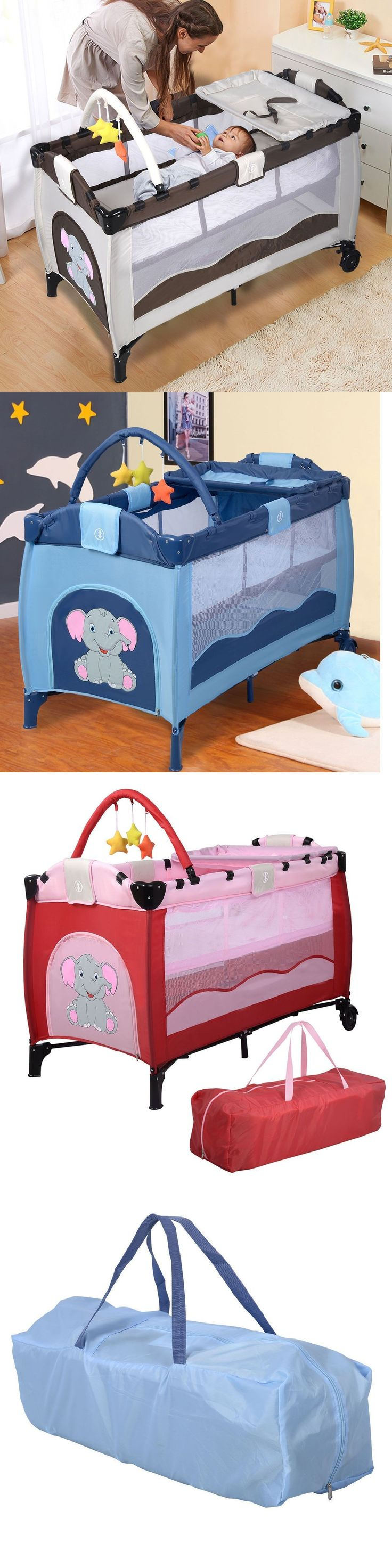 Used crib for sale ebay - Baby Nursery Portable Baby Crib Bassinet Playpen Travel Folding Bed Organizer Convertible Buy