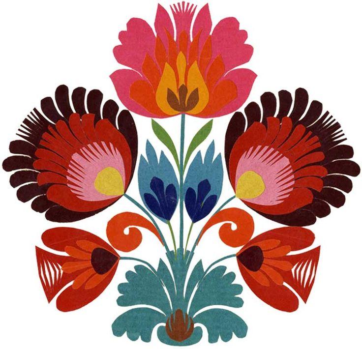 (design) polish folk art | Wycinanki - Polish folk art