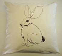 Riverine Rabbit Cushion by Veldt Design, Cape Town South Africa