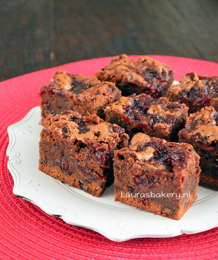 Cranberry brownies - Laura's Bakery