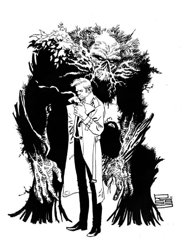 Constantine & Swamp Thing by Eduardo Risso