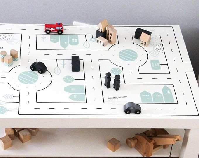 Play Mat Car Sticker Kids Table Play Mat Baby Play Table Decal