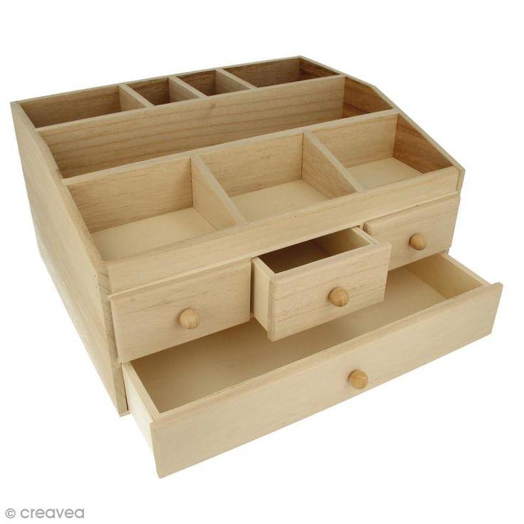 Compra nuestros productos a precios mini Joyero con 4 cajones de madera para decorar - 34,3 x 26,5 x 18 cm - Entrega rápida, gratuita a partir de 89 € !