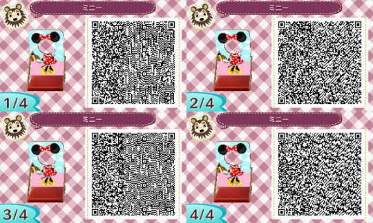 ACNL QR CODE-Minnie Mouse Standee