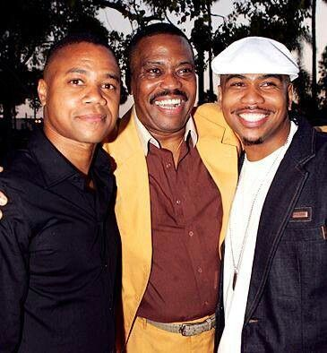 Singer Cuba Gooding Sr with acting sons: Cuba Gooding Jr, and Omar Gooding