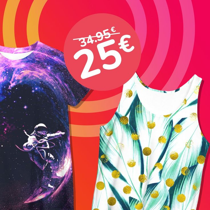 HOT MELTING SALE ☀😍🌴  Special Price: T-shirts & Tank-Tops Only 25€ 🆒😄  https://liveheroes.com/en/shop/women/t-shirt?special=featured