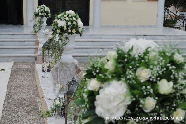 7b3f9cffc7a0 Στολισμός γάμου με λευκές ορτανσίες