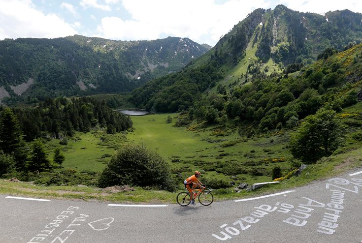 Euskaltel Euskadi procycling team rider Igor Anton of Spain in action during the 8th stage of the 100th edition of the Tour de France cycling race between Castres and Ax 3 Domaines, France, on July 6. (Guillaume Horcajuelo/European Pressphoto Agency - See more at: http://www.boston.com/bigpicture/2013/07/tour_de_france_100th_edition_p.html#sthash.NBeqwlIC.dpuf