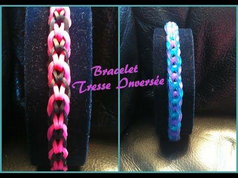 Bracelet tresse inversé  Rainbow loom® Tutoriel Français (Niveau Débutant) #rainbowloom #braceletelastique