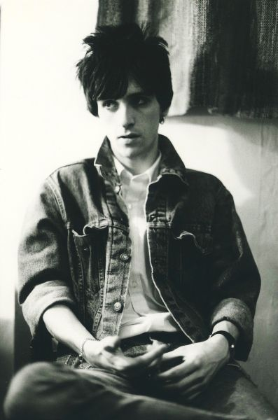 Johnny Marr during the Smiths years (1984) ― photo by Andy Catlin.
