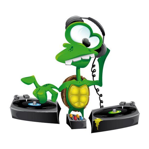 Crazy Cartoon Turtle DJ Vector - http://www.welovesolo.com/crazy-cartoon-turtle-dj-vector/