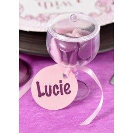 Boîte à dragées mini coupe transparente avec couvercle