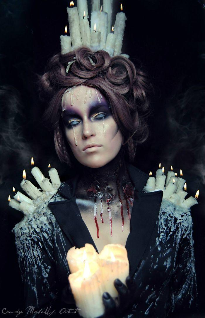 Joyce Spakman superbes et terrifiants maquillages 2