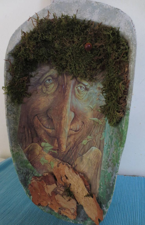 Oude meel schep wijze oude man natuur door DDDesignCrafts op Etsy